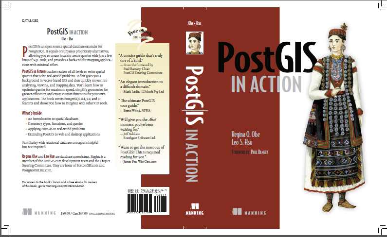 PostGIS in Action front and back cover